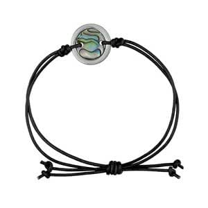 1001 Bijoux - Bracelet cordon avec rond en nacre de Nouvelle Zélande