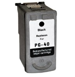Prestige Cartridge PG-40 Druckerpatrone für Canon Pixma iP 1200 1300 1600 1700 1800 1900P2200 2400 2500 2600 MP 140 150 160 170 180 190 210 220 450 460 470 MX 300 310 schwarz - Pg-40 Cartridge Ink