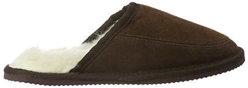 SNUGRUGS Suede with Wool Lining and Rubber Sole, Chaussons Mixte Adulte, 37 EU Marron