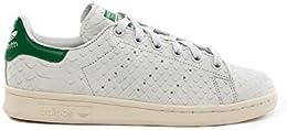 Adidas, Donna, Stan Smith W White Green, Pelle, Sneakers, Bianco