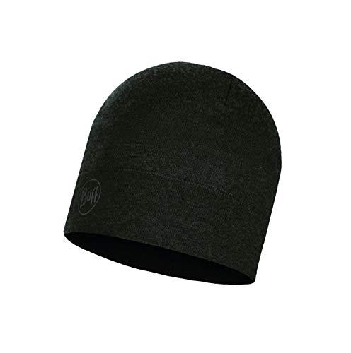 Buff Midweight Merino Wool Hat, Forest Night Melange, One Size Merino Winter Cap