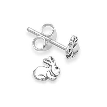 b9bbdc99c Heather Needham Sterling Silver Rabbit Earrings - SIZE: 5mm. Gift Boxed Rabbit  stud Earrings. 5133/B41/HN