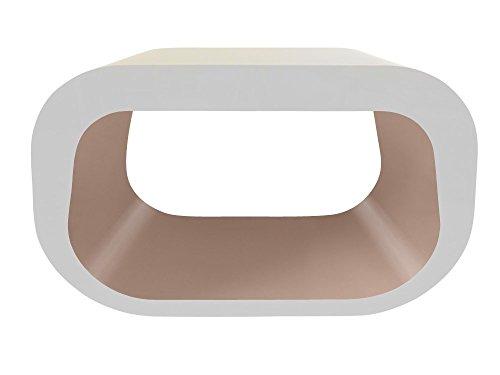 Zespoke Design Le Squoval Carré Ovale TV Meuble en Blanc des Couleurs Différentes