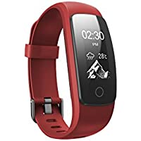 Toksum® Boost 2+® Fitness Activity Tracker Smart Wristband | Wearable Pedometer Watch Bracelet with Sleep, Heart Rate Monitor & GPS | For Kids, Women and Men | For iPhone & Android