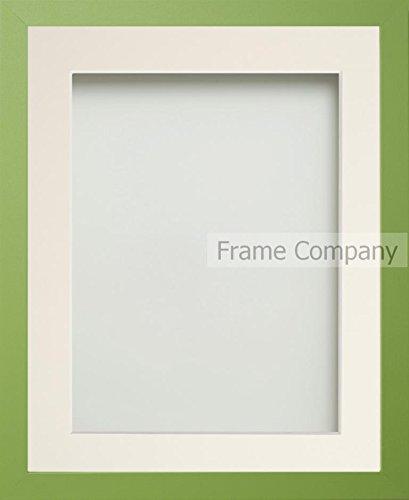 7' X 9 Grün (Frame Company Beneton Range Bilderrahmen, verschiedene Größen, Grün / elfenbeinfarbenes Passepartout 12x10 for pic size 9x7')