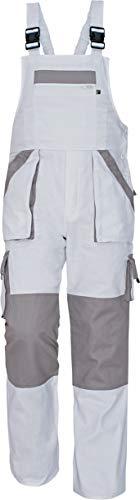 Stenso MAX - Herren Praktisch Arbeitslatzhose Baumwolle Weiß 54