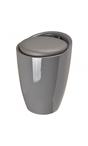 Pouf Pop tabouret et coffre de rangement Gris anthracite ABS La chaise longue 36-1M-003