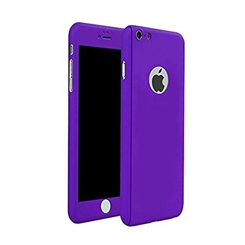 iPhone 6Plus/6S Plus Full Body Hard case-aurora schwarz Vorder- und Rückseite mit Tempered Glas Displayschutzfolie für iPhone 6Plus/6S Plus 14cm