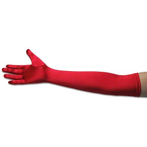 Lang Handschuhe Satinhandschuhe für Hochzeit Abendkleid Halloween Kostüm (Satin Nylon Kostüme)