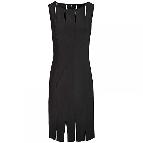 Frank Lyman Keyhole & Slit Sleeveless Shift Dress