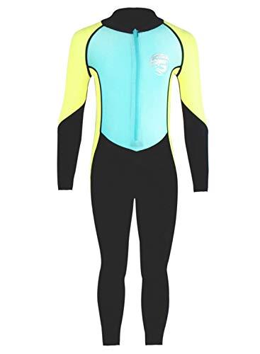 Scuba Kostüm - SCUBA DONKEY Jungen Badeanzug Uv-Schutz Einteiler Langarm Rash Guard Schwimmen Kostüm Sommer Strand Badeanzug 11-12 Y