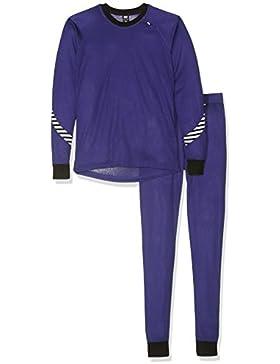 Helly Hansen HH–Juego de camiseta y mallas interiores para niño, Infantil, HH Lifa, morado, 16 años