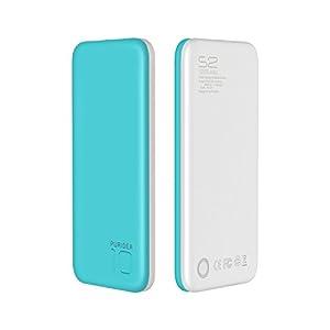 Gulake Power Bank, 10000mAh (Doble Puerto, Total 5V/3A) Batería Externa Portátil Carga Ultra Compacto para iPhone 6/6s/6 plus/6s Plus, iPad, Dispositivos Android, Teléfonos Móviles, Tablet (Azul)