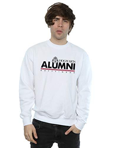 Harry Potter Herren Hogwarts Alumni Gryffindor Sweatshirt Weiß Small
