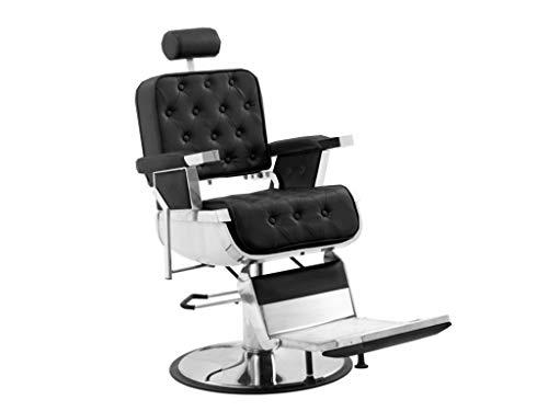 Polironeshop eldorado poltrona professionale per barbiere parrucchiere tattoo (nero)