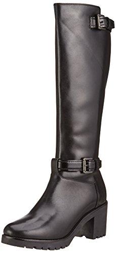 Geox Damen D New Dovelyn D Kurzschaft Stiefel, Schwarz (BLACKC9999), 38 EU