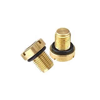D2D Coolant Tank Bleeder Screw Radiator Hose Bleed Vent Screw + Rubber O-ring Replacement for Car Parts, 17111712788