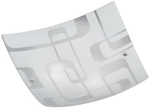 Honsel 25753 - Lámpara de techo con decoraciones, níquel mate y cristal blanco