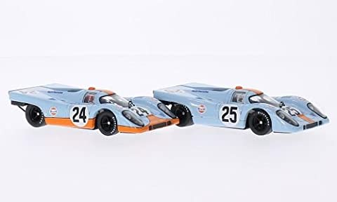 JWA-Gulf Team - Porsche 917K No.24 Joe Siffert and No.25 Pedro Rodriguez - 1000Km Spa 1970