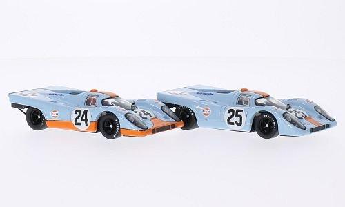 Brumm JWA-Gulf Team - Porsche 917K No.24 Joe Siffert and No.25 Pedro Rodriguez - 1000Km Spa 1970