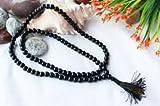 #8: Kriwin Pre Energized Original Black Agate( Healing Crystal) Hakik Mala/Rosary for Japa of Kali , Maha Bhairav or wearing purpose