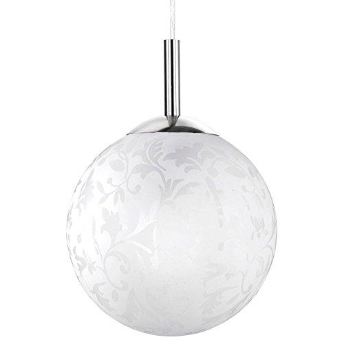 Decken Pendel Hänge Lampe Leuchte Kugelform Floral Motiv Paul Neuhaus 2464-16