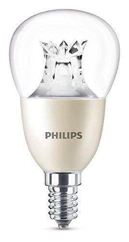Philips Warmglow - Bombilla LED, casquillo E14, 8 W, cambia entre 3 tonalidades de blanco, requiere regulador, a menor intensidad mayor calidez de luz