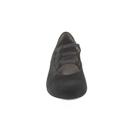 Waldläufer Pumps Hilaria, Nubuk-Soft, schwarz, Weite H 358503-162-001 Schwarz