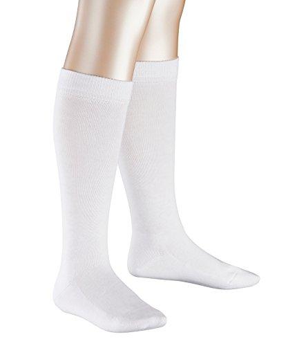 FALKE Mädchen Kniestrümpfe Family, Weiß (White 2000), 35 (Herstellergröße: 35-38) (Weiße Kniestrümpfe Mädchen)