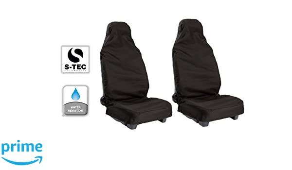 | Heavy Duty Water Resistant S- tech automotive Front Seat Covers//Protectors 1+1 Grey