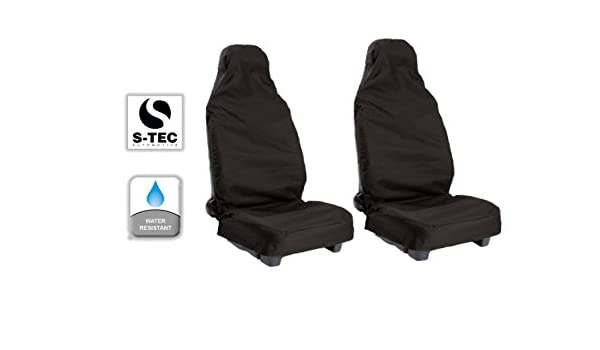 SEAT IBIZA FR 09-ON Heavy Duty Waterproof Front Seat Covers Protectors Black