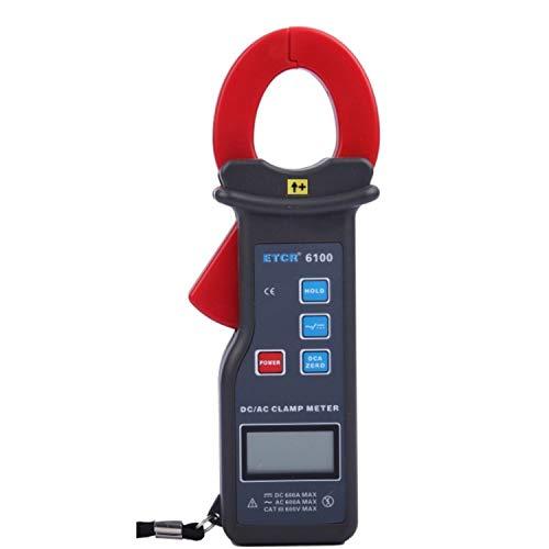 Multimeter Stromzange DC/AC Messbereich 0,0A bis 1000A, Kiefer Größe 30X35mm mit RS232-Schnittstelle Daten-Upload-Funktion Datenspeicherung 99 Gruppen ETCR6100
