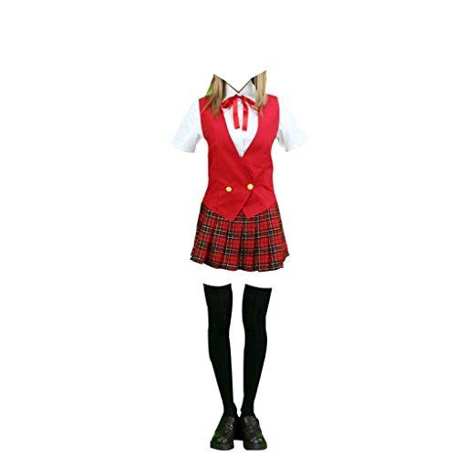 Dream2Reality japanische Anime Mahou Sensei Negima(Happy Material) Cosplay Kostuem - High School Maedchen Uniform Summer Small