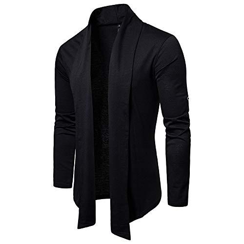 TWBB Pullover,Herren Cardigan Coat Jacke Outwear Mantel Einfarbig Unregelmäßig Sweatshirt Schlank Oberteile Tops