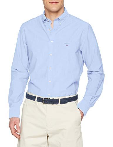 Gant the broadcloth reg bd, camicia sportiva uomo, blu (hamptons blue), large