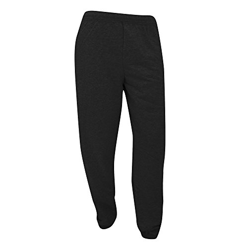 fruit-of-the-loom-mens-elasticated-cuff-jog-pants-jogging-bottoms-l-black