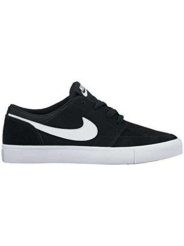 Nike SB Portmore II (GS), Chaussures de Skateboard Garçon Blanc-Noir