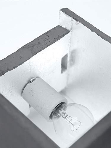 Beton Up Down Lampe murale carrée en béton 14 cm