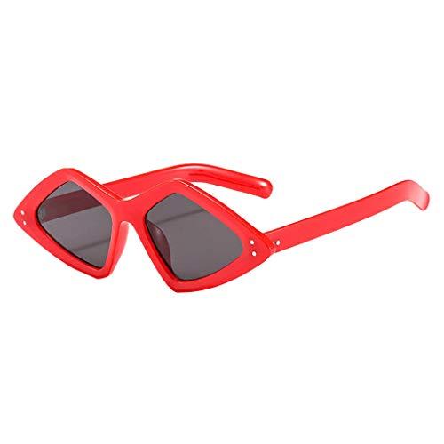 CANDLLY Brillen Damen, Zubehör Unisex Leicht Irregulär Mode Sonnenbrillen Beiläufig Gespiegelt Polarisierte Linse Nagel Brillen