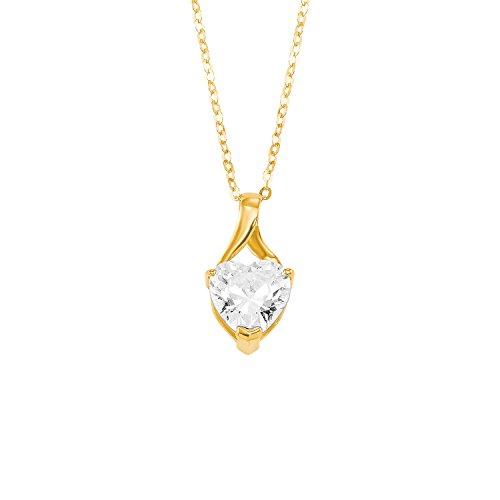 amor Halskette mit Herz-Anhänger aus Gold 375