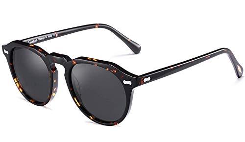 Carfia Polarisierte Damen Sonnenbrille UV400 Schutz Outdoor Brille für Autofahren Angeln Freizeit Acetat Rahmen