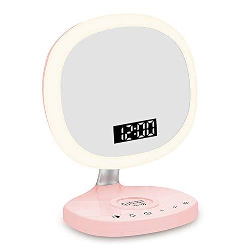 Schminkspiegel mit Fülllichtfunktion, kabelloses Aufladen des Mobiltelefons/Digitaluhr/Nachttischlampe im Schlafzimmer, geeignet für Samsung X / 8 / 8Plus Samsung Galaxy S8