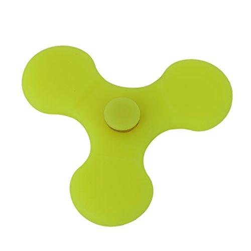 Preisvergleich Produktbild Crysle New Candy Series Silikon Material Hand Spinner Fidget Spielzeug und Fidget Hand Spinner Spielzeug Stress Reducer Perfekt f¨¹r ADHS, Angst und Autismus Erwachsene Kinder (Yellow / gelb)