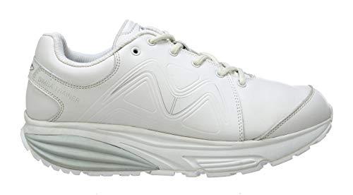 MBT 700861 Simba Trainer W Mujer Zapatos de Cordones,señora Zapato Equilibrio,Suela Curva,White/Silver,36 EU,5.5 US
