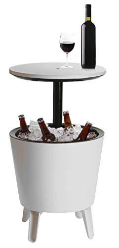 Keter Coolbar Tisch Stehtisch Kühlbox Cocktailbar (Weiß)