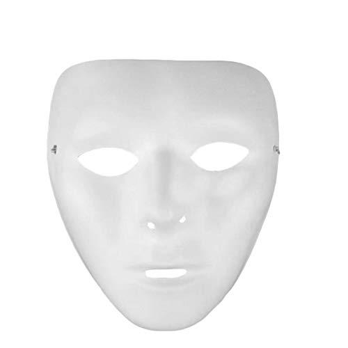 JohnJohnsen Cosplay Halloween Festival weißer Maske PVC Partei Spielzeug einzigartige Vollgesichtstanz-Kostüm-Maske für Männer Frauen für Gift (weiß)