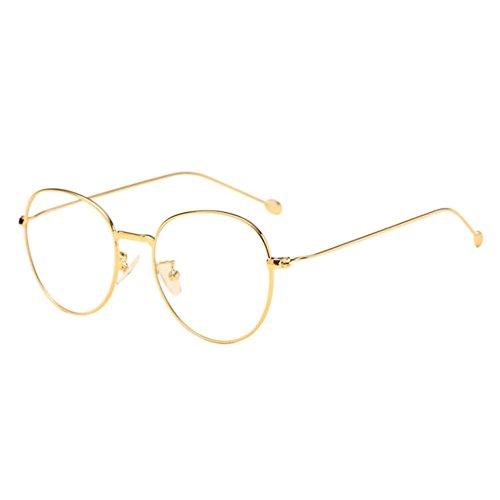 Xinvision Männer Frauen Kurzsichtig Gläser,Metall Runden Rahmen Kurzsichtigkeit Myopia Eyewear Brillen Stärke -1.0-2.0 -3.0-4.0 -5.0-6.0 mit Brille Shell (Diese sind nicht Lesen Brille)