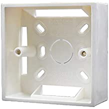 Caja de pared Universal Square Wall 86mm x 86mm x 30mm PVC para termostato-Blanco