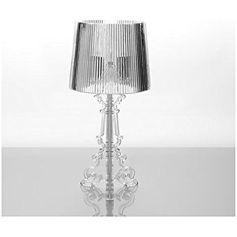 Lámpara de mesa con pie estilo barroco acrílico HOME