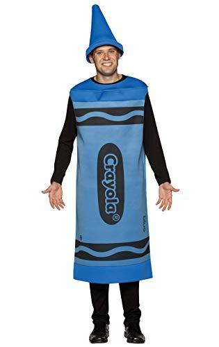 Für Erwachsene Crayola Kostüm - Rasta Imposta Crayola zeichnet - Erwachsene männlich Kostüm - Blau